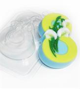 8 Марта/Подснежники по диагонали форма пластиковая