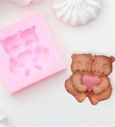Парочка медведей mini силиконовая форма (молд)