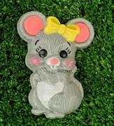 Мышка с бантом форма пластиковая
