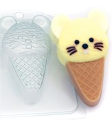 Мороженое Мышка форма пластиковая