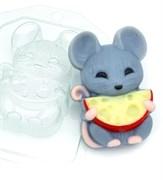 Мышка с полукруглым сыром форма пластиковая