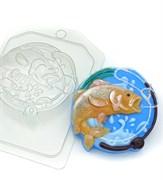 Рыба в круге лески и удочки форма пластиковая