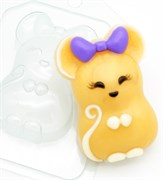 Мышь с Бантом форма пластиковая
