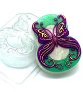 8 Марта/Бабочка в завитушках форма пластиковая