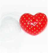 Клубничное сердце форма пластиковая