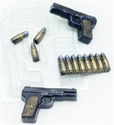 Пистолет ТТ МИНИ форма пластиковая