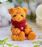 Тигрёнок в шарфе 3D силиконовая форма