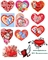 Водорастворимая бумага с рисунками №9 Валентинки - фото 5035